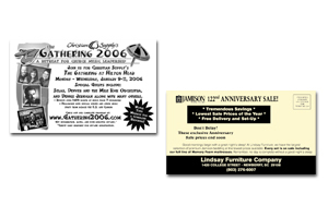 Rack Cards - 1 or 2 Color